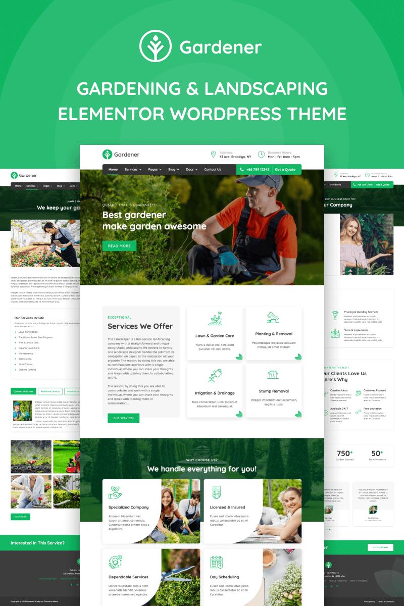 Reszponzív Gardener - Gardening and Landscaping Elementor WordPress sablon 98027