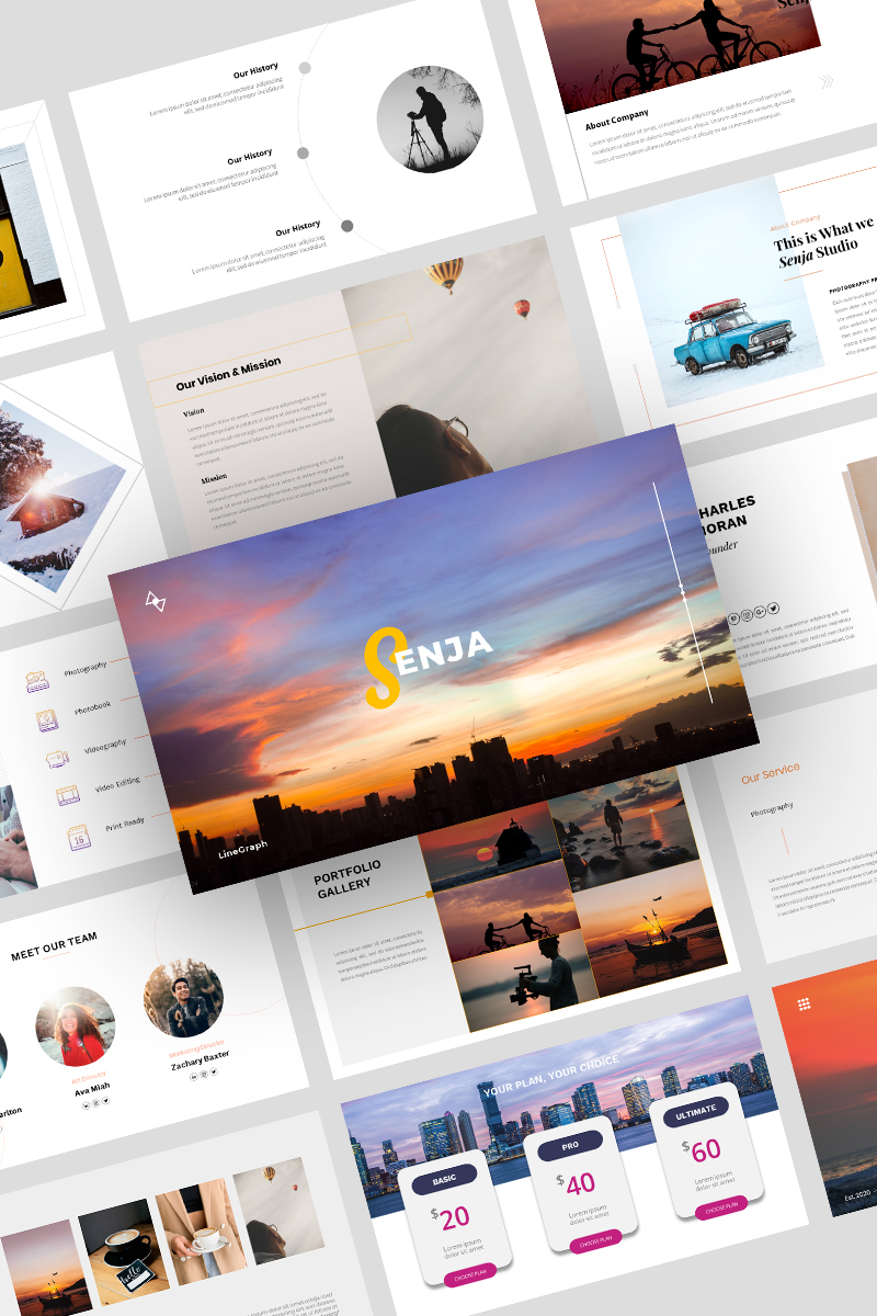 """Senja - Creative Template"" - Google Slides №98069"