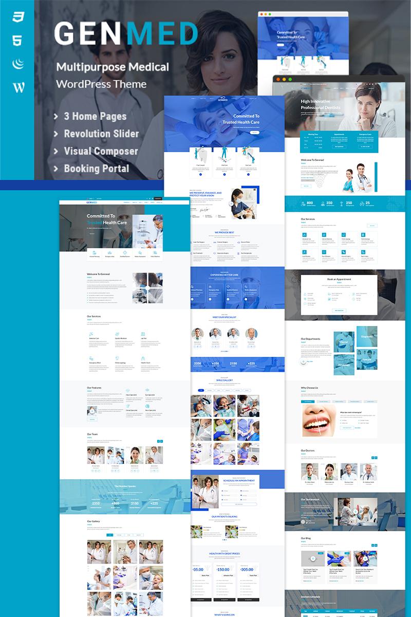 """Genmed | Multipurpose Medical"" - адаптивний WordPress шаблон №98144"
