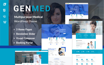 Genmed | Multipurpose Medical WordPress theme WordPress Theme