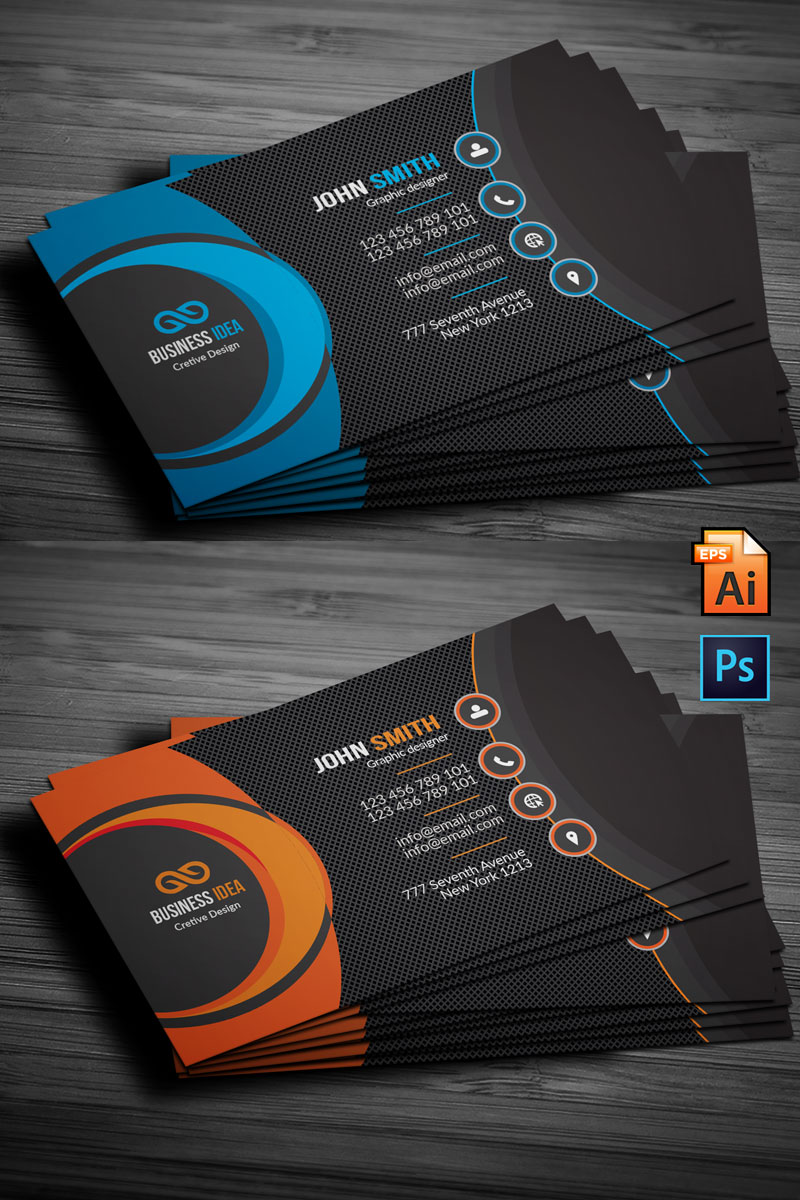 Business Cards Corporate Ideny