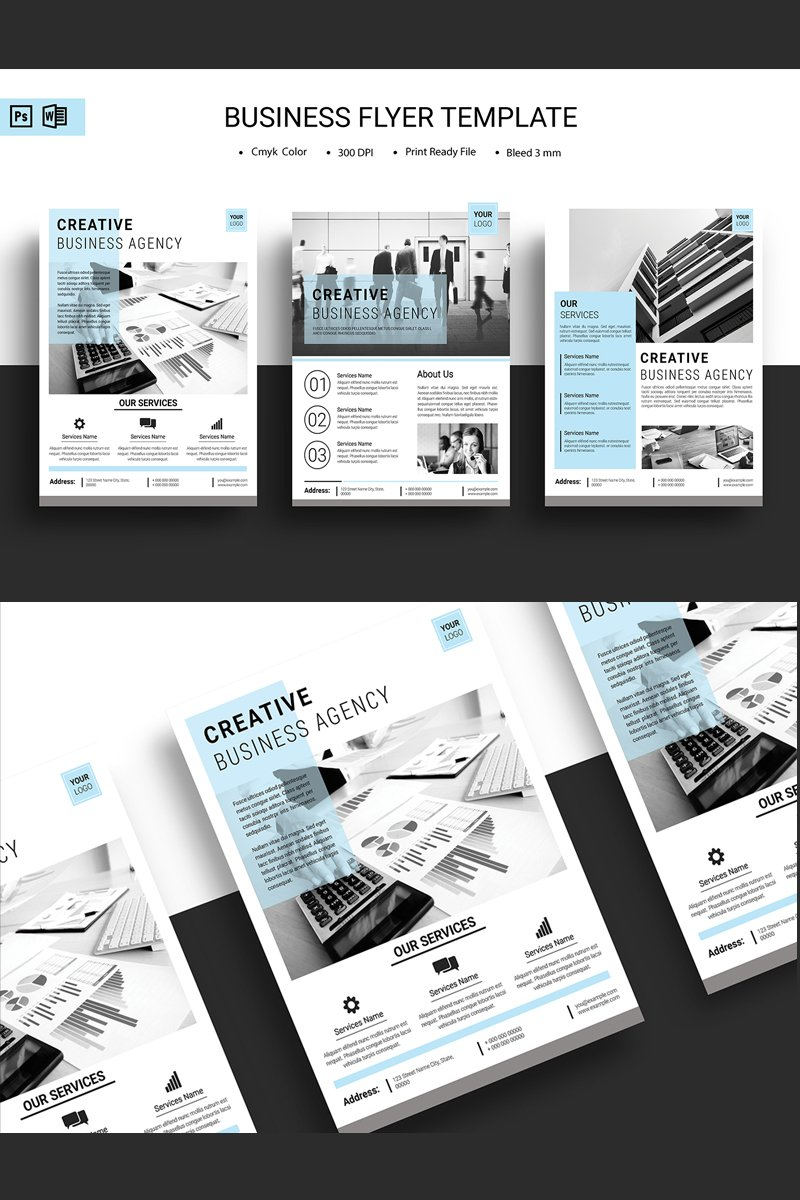 Sistec Minimal Business Flyer Corporate Identity Template