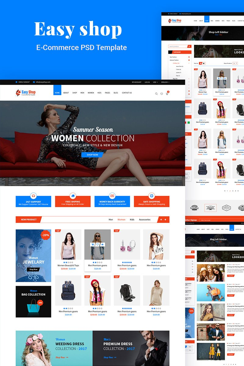 """Smart Shop- E commerce PSD Template"" modèle PSD  #98140"