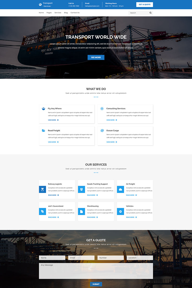Transport PSD Template