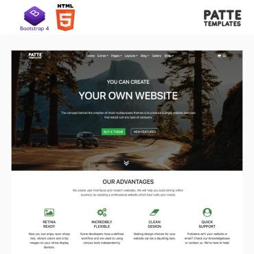 Купить  пофессиональные Bootstrap и html шаблоны. Купить шаблон #98271 и создать сайт.