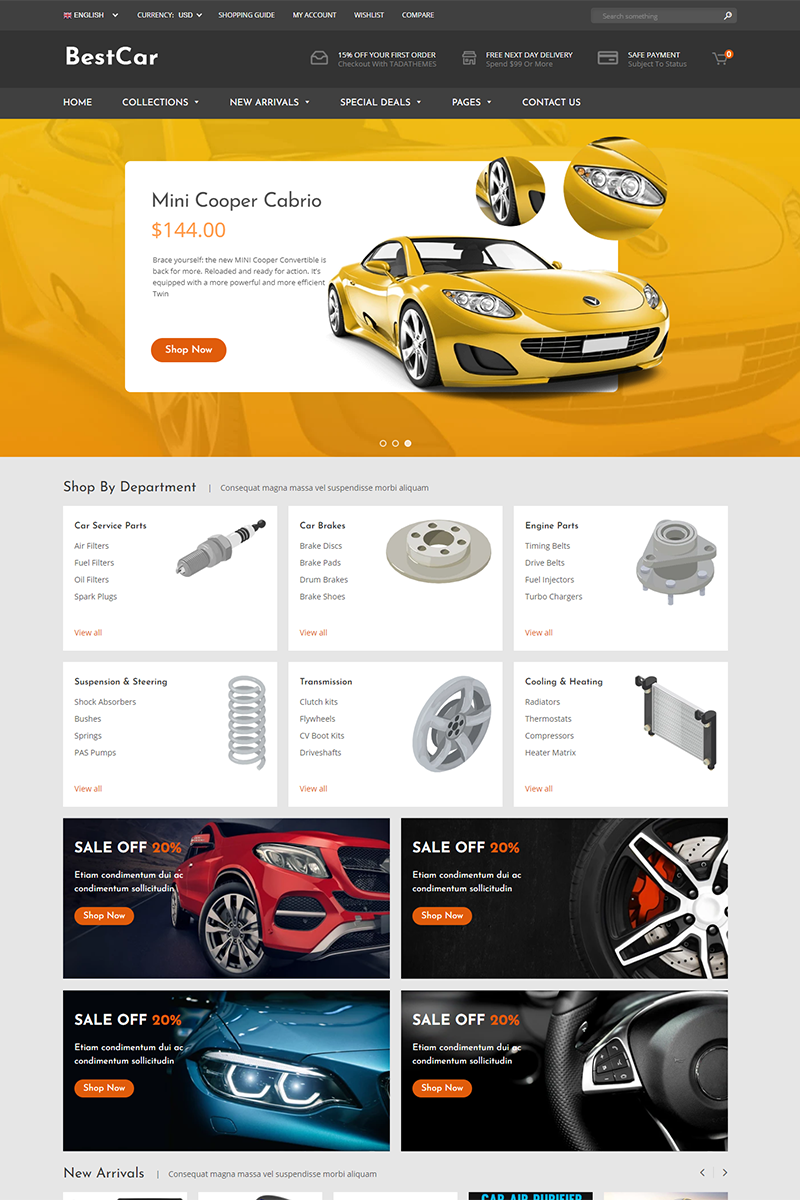 BestCar - Responsive for Car Accessories Shopify Theme