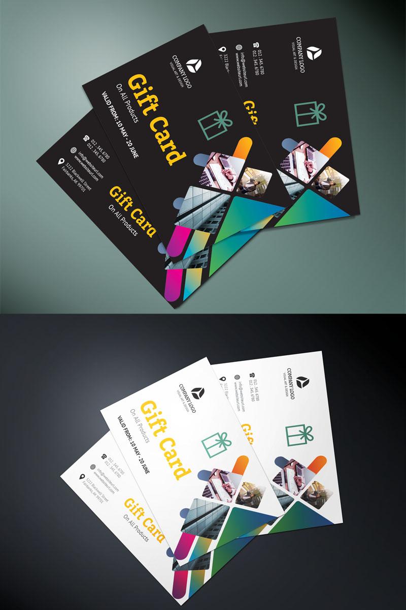 Dark Color Gift Card Corporate Identity Template - screenshot