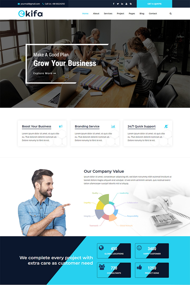Ekifa Business and Agency HTML Website Template