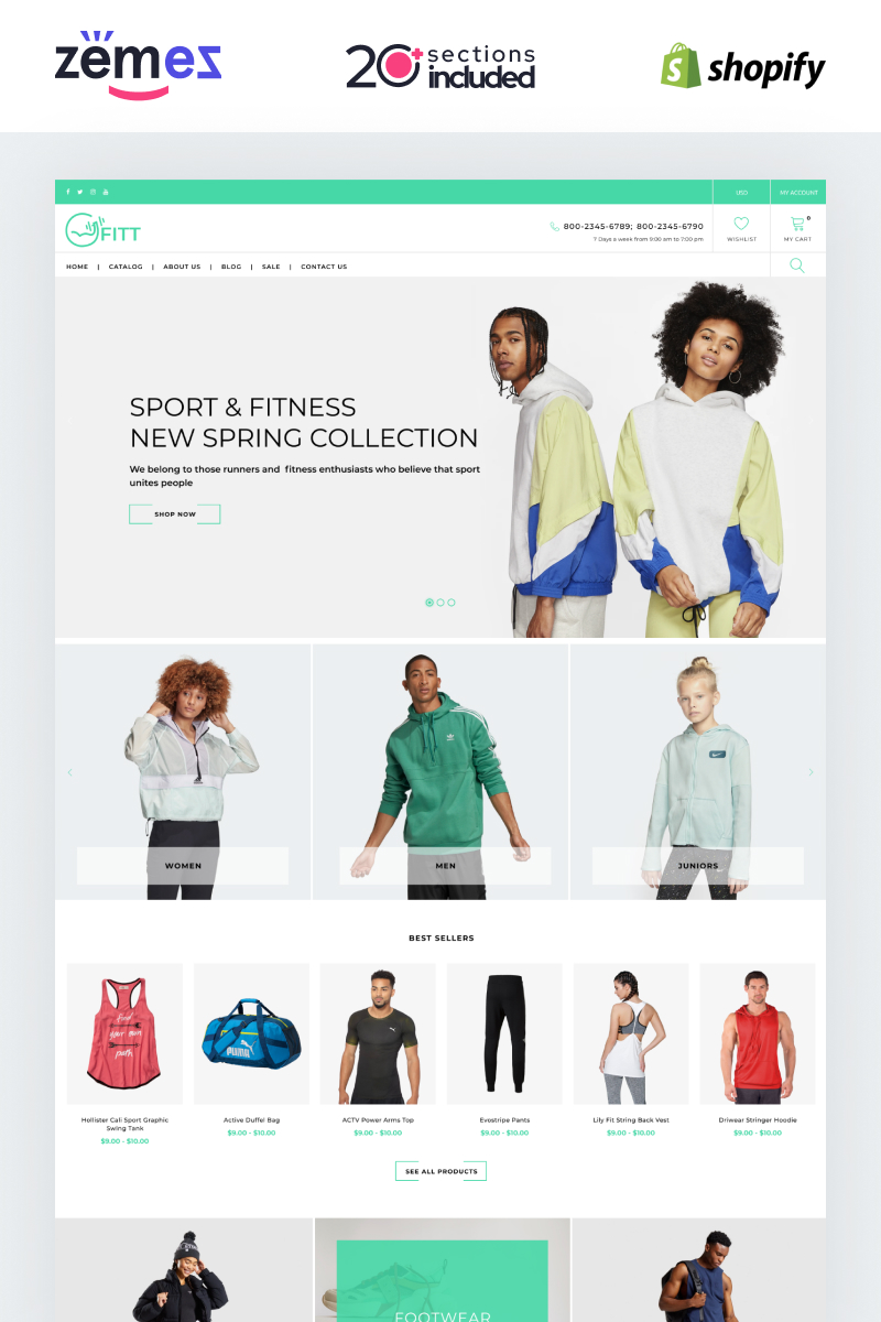 Fitt - Fitness Online Website Template Shopify Theme