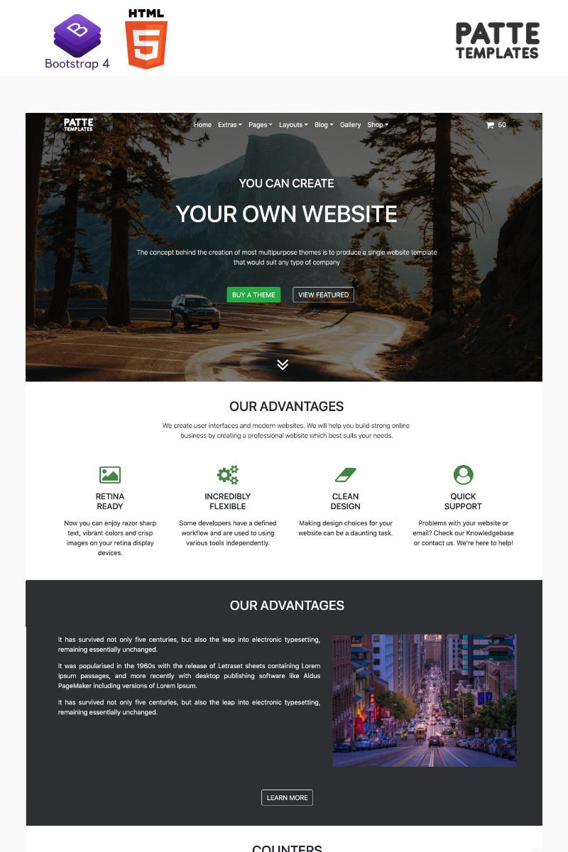 Patte Website Template - screenshot