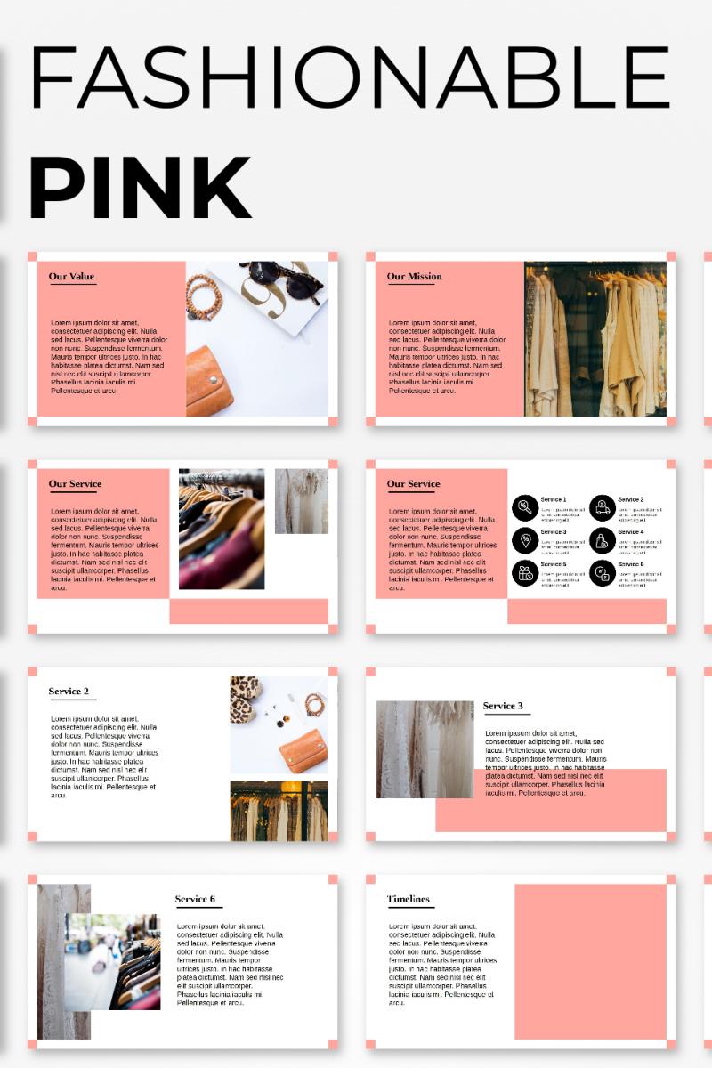 """PowerPoint Vorlage namens """"Fashion Presentation"""" #98236"""