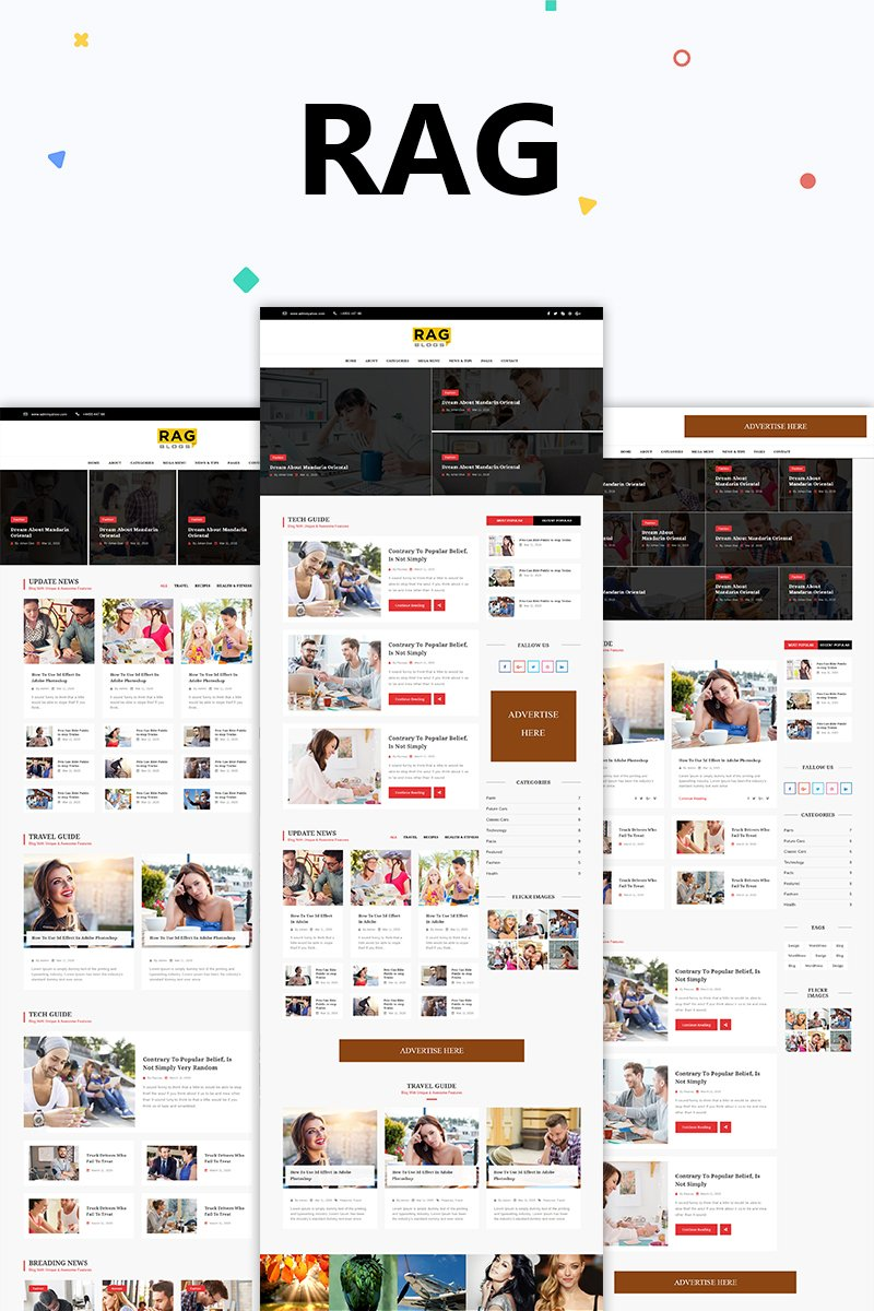 Rag - Blog Magazine HTML Website Template