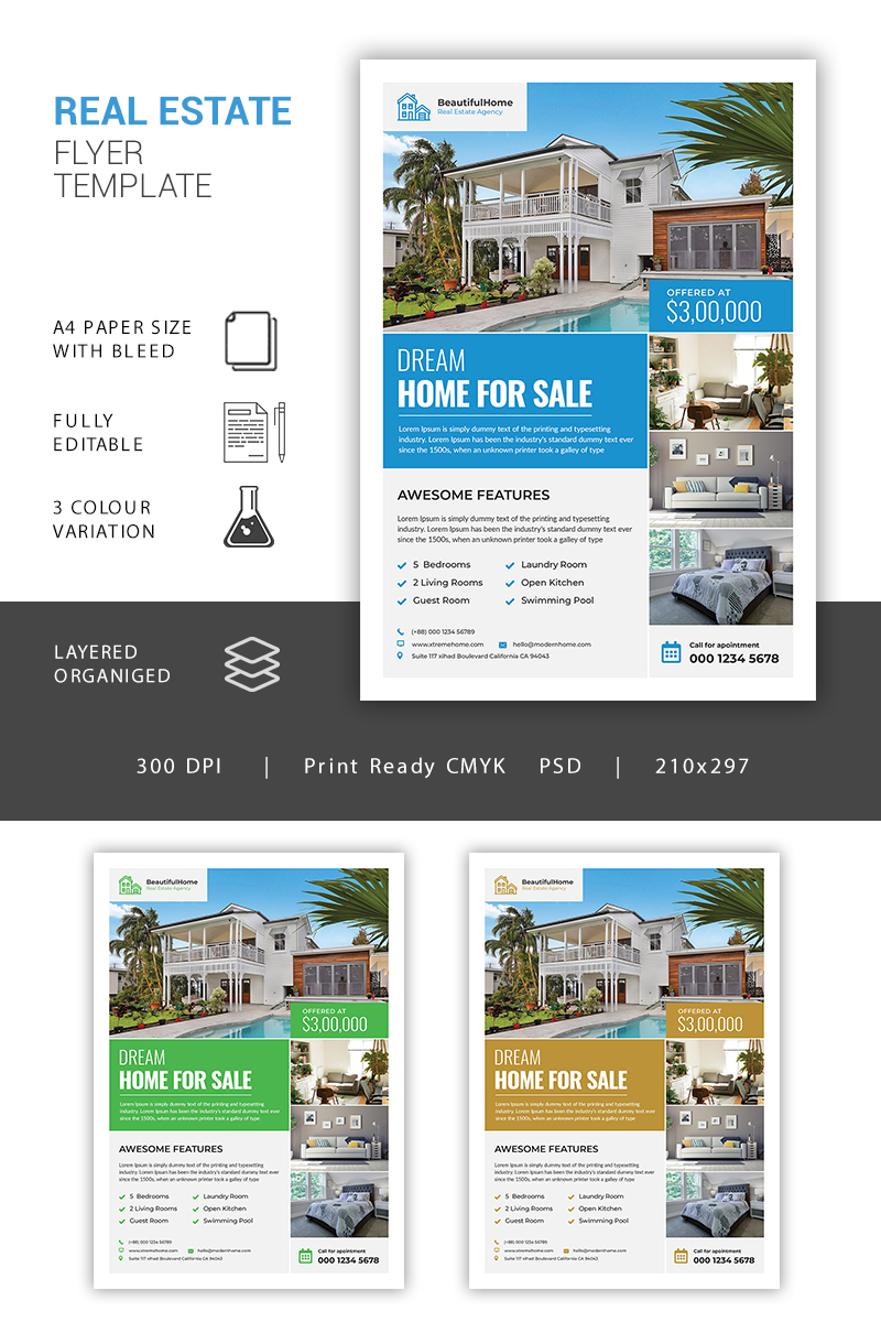 Real Estate Flyer Corporate Identity Template - screenshot