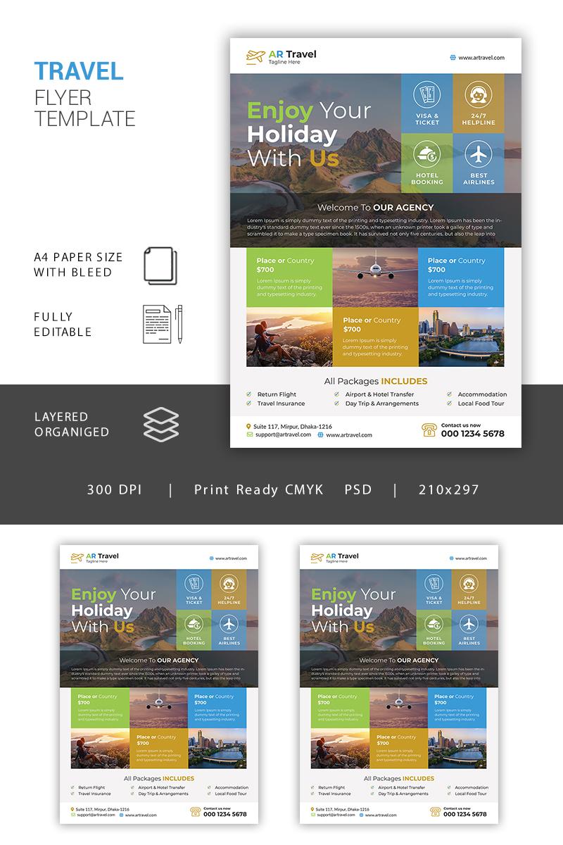 Travel Flyer Corporate Identity Template - screenshot