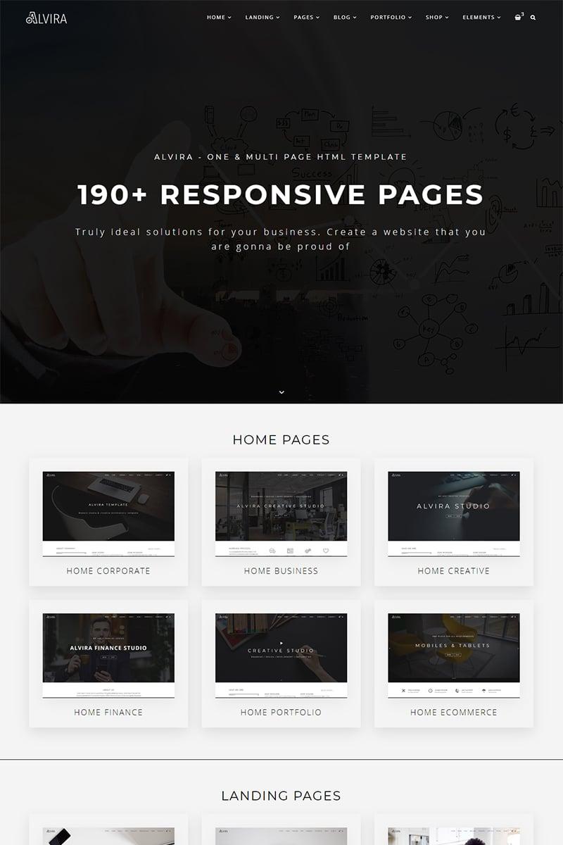 "Website Vorlage namens ""Alvira - One and Multi Page HTML"" #98276"