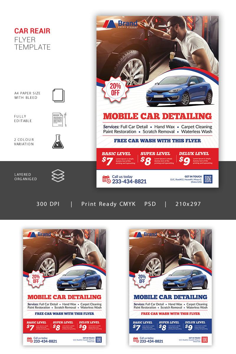 Car Repair Flyer Corporate Identity Template - screenshot