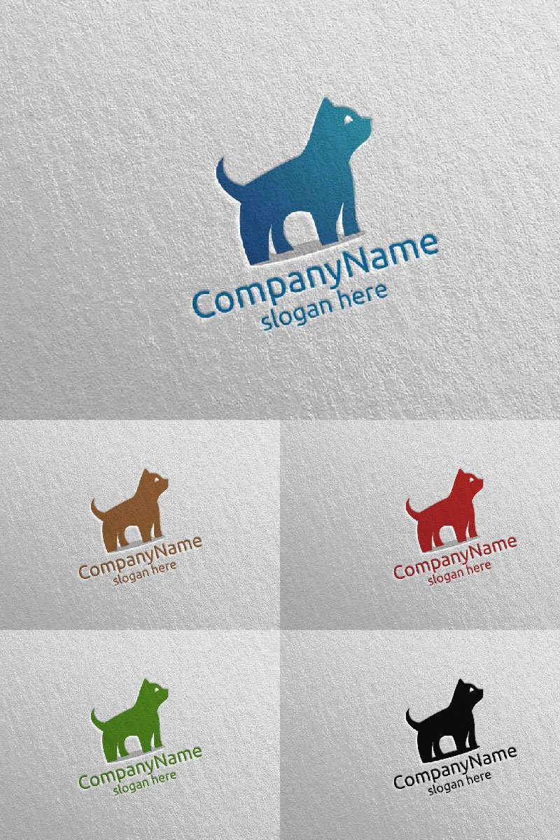 Cat for Pet Shop, Veterinary, or Cat Lover Concept 13 Logo Template - screenshot
