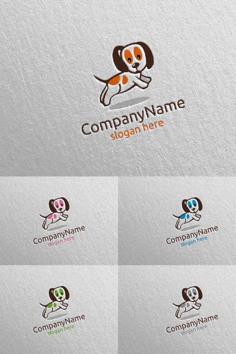 Dog for Pet Shop, Veterinary, or Dog Lover Concept 6 Logo Template - screenshot