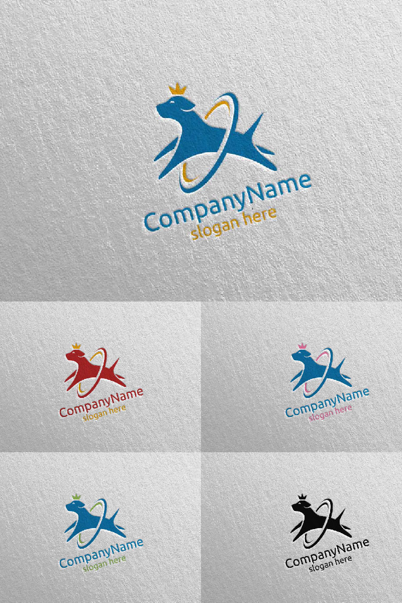 Dog for Pet Shop, Veterinary, or Dog Lover Concept 8 Logo Template - screenshot