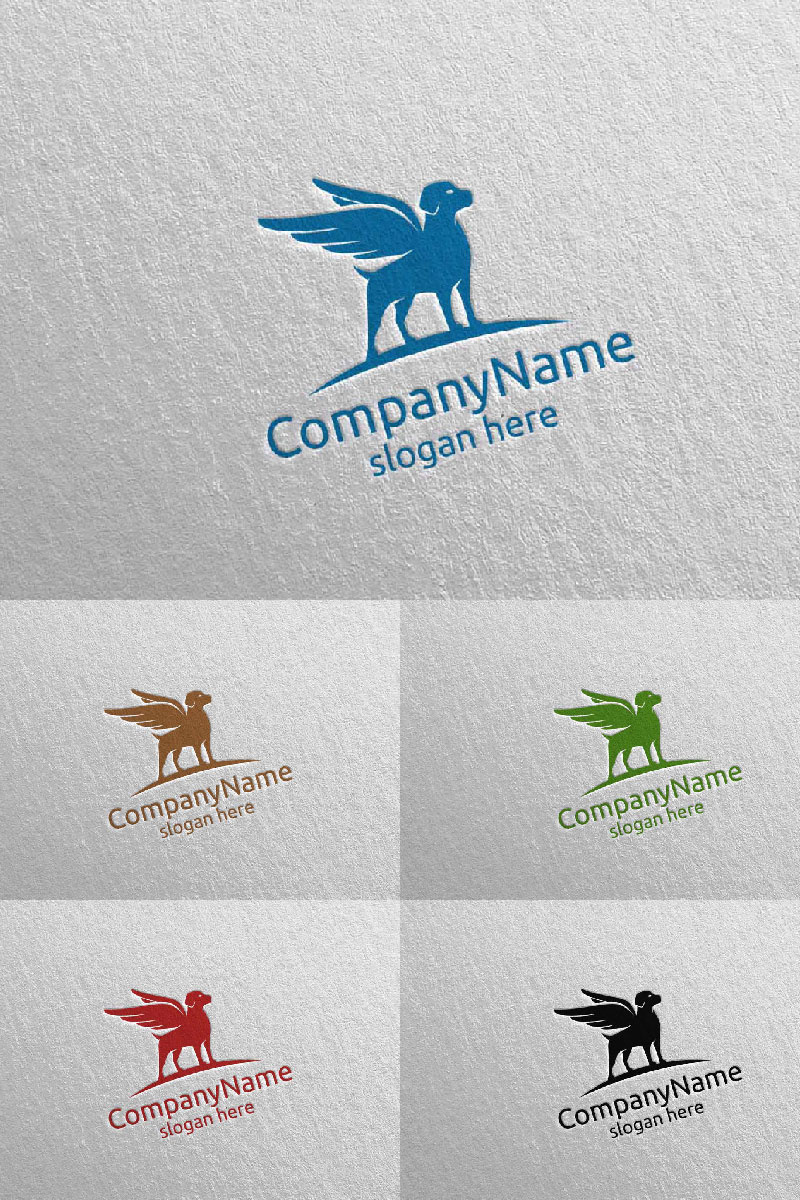 Dog for Pet Shop, Veterinary, or Dog Lover Concept 8 Logo Template - screenshot