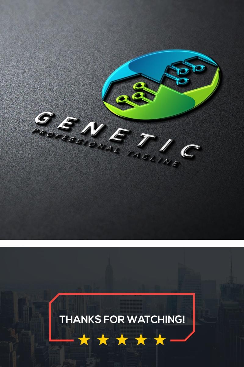 Genetic Dna Tech Logo Template - screenshot