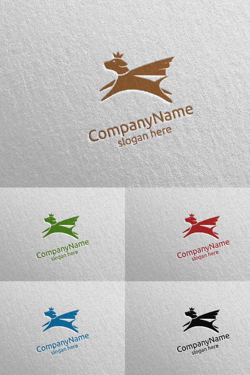 Hero Dog for Pet Shop, Veterinary, or Dog Lover Concept 11 Logo Template - screenshot