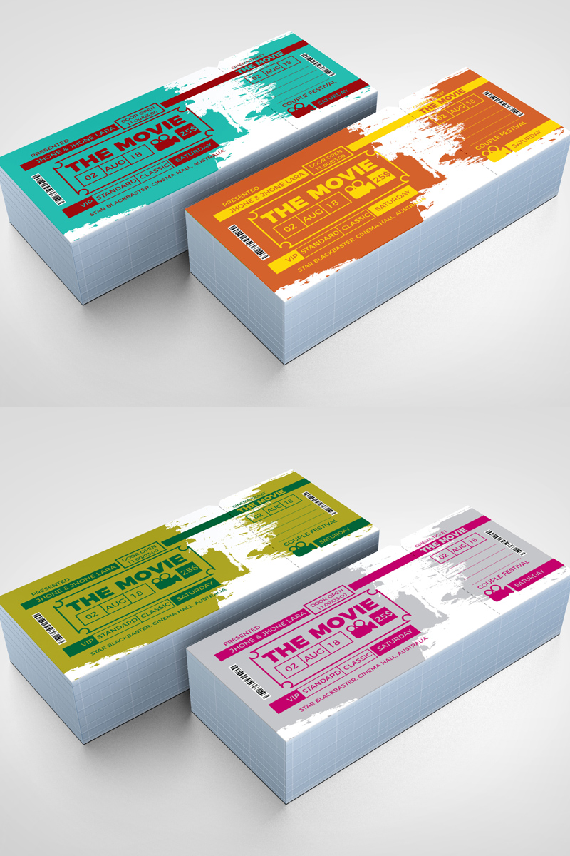 Party Event Ticket Corporate Identity Template - screenshot