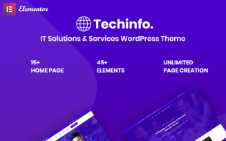 Techinfo - IT Solutions & Services Responsive WordPress Theme
