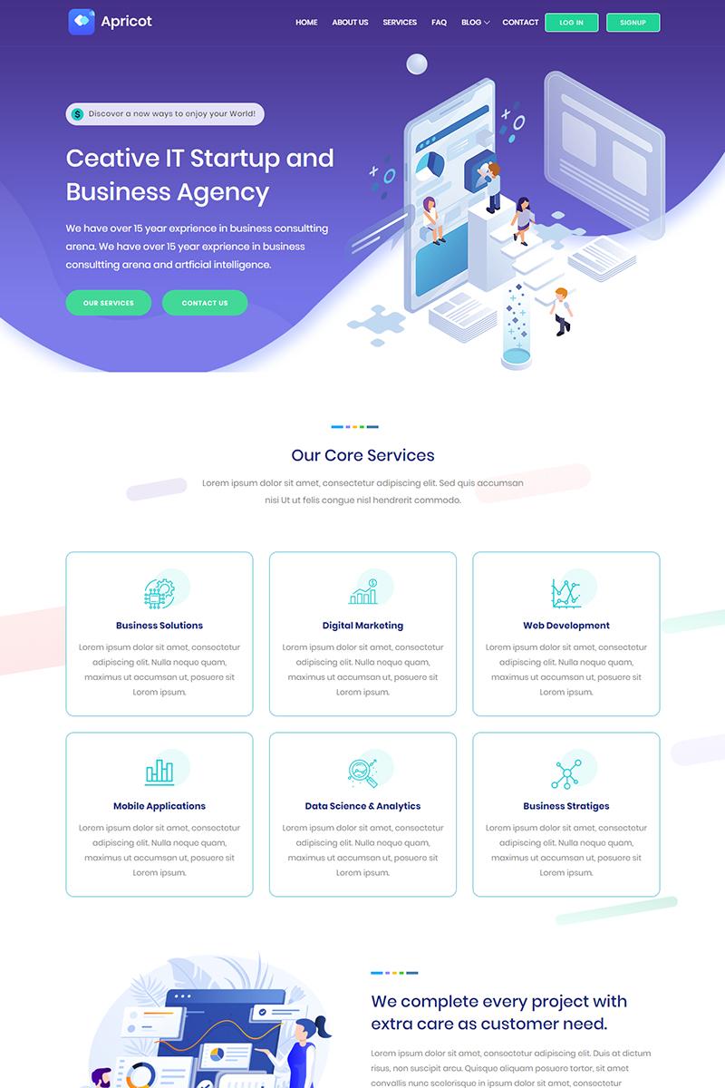 Apricot - IT Startup Multipurpose Website Template - screenshot