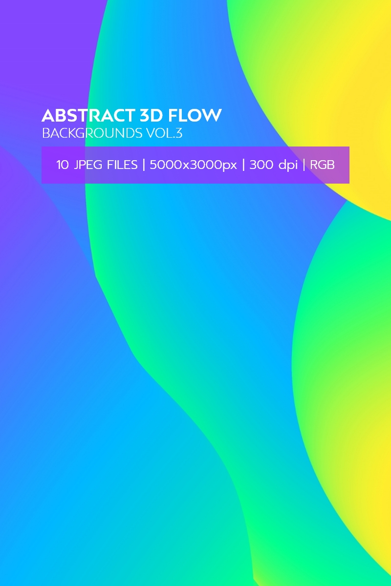 Background Abstract 3D Flow Vol.3 #98420