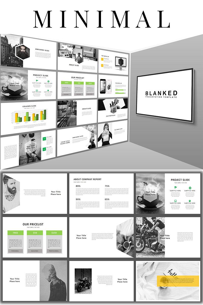 """Blanked - Minimal"" modèle PowerPoint  #98452"