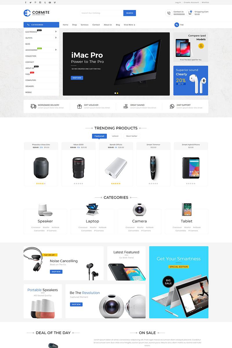 Cormite Electronics Shopify Theme - screenshot