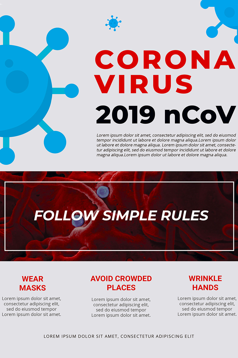 Free Coronavirus Alert Flyer Corporate Identity Template