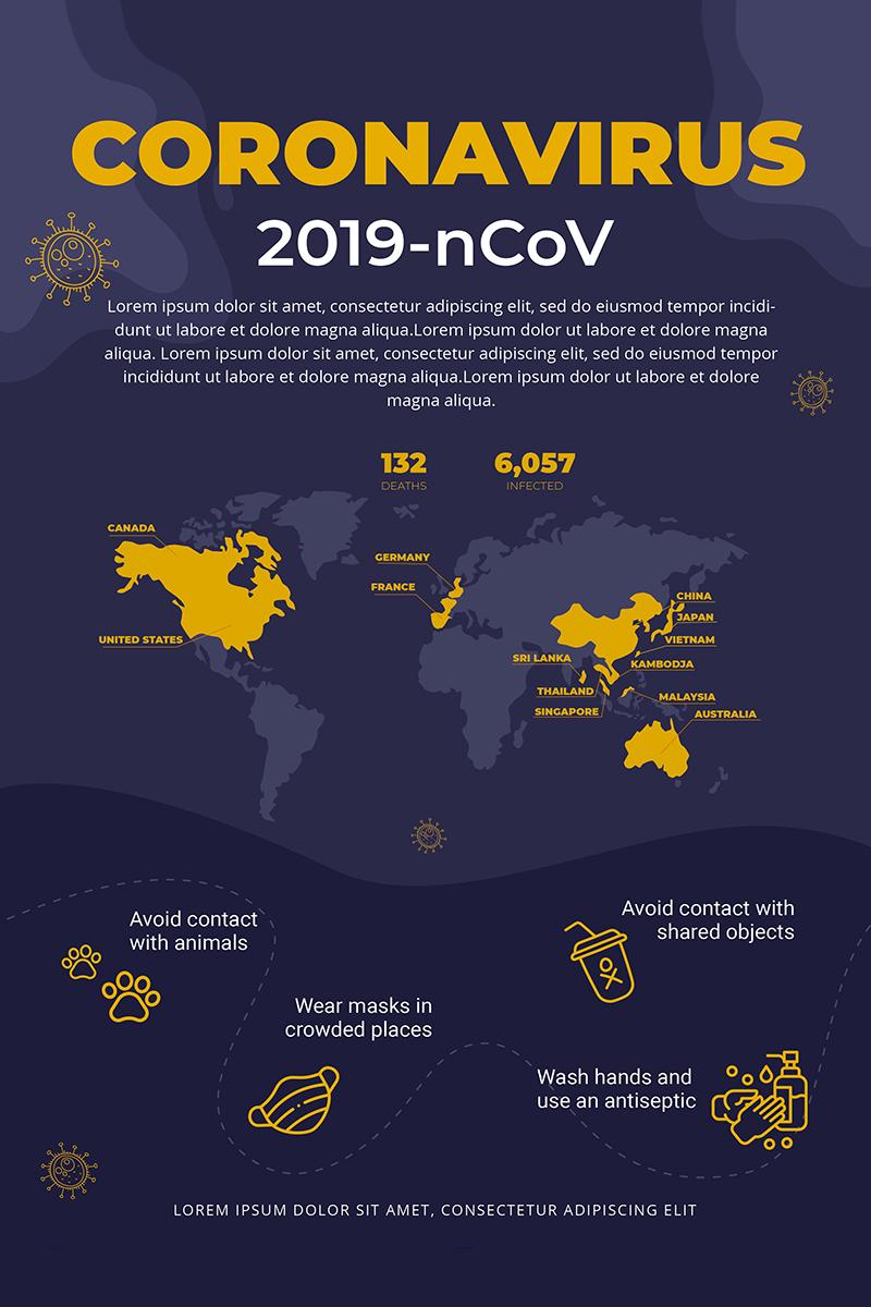 Free Stop Coronavirus Campaign Flyer Corporate Identity Template
