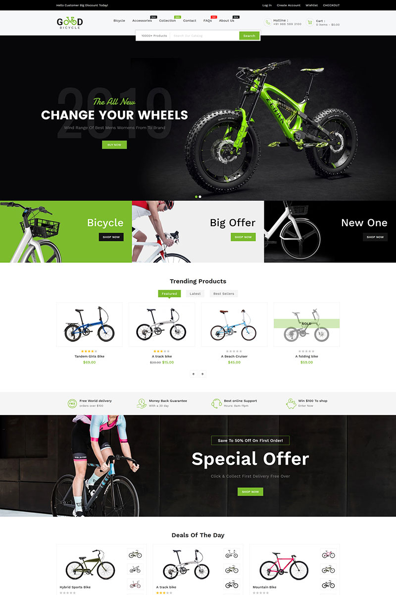 """Good Bikes & Bicycle"" Responsive Shopify Thema №98485"