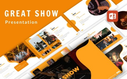 Great Show Event Organizer Presentation PowerPoint PowerPoint Template