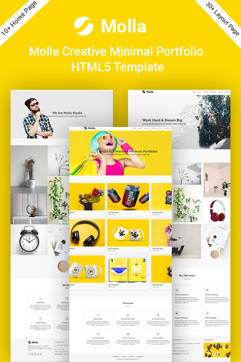 Molla Creative Minimal Portfolio HTML5 Website Template