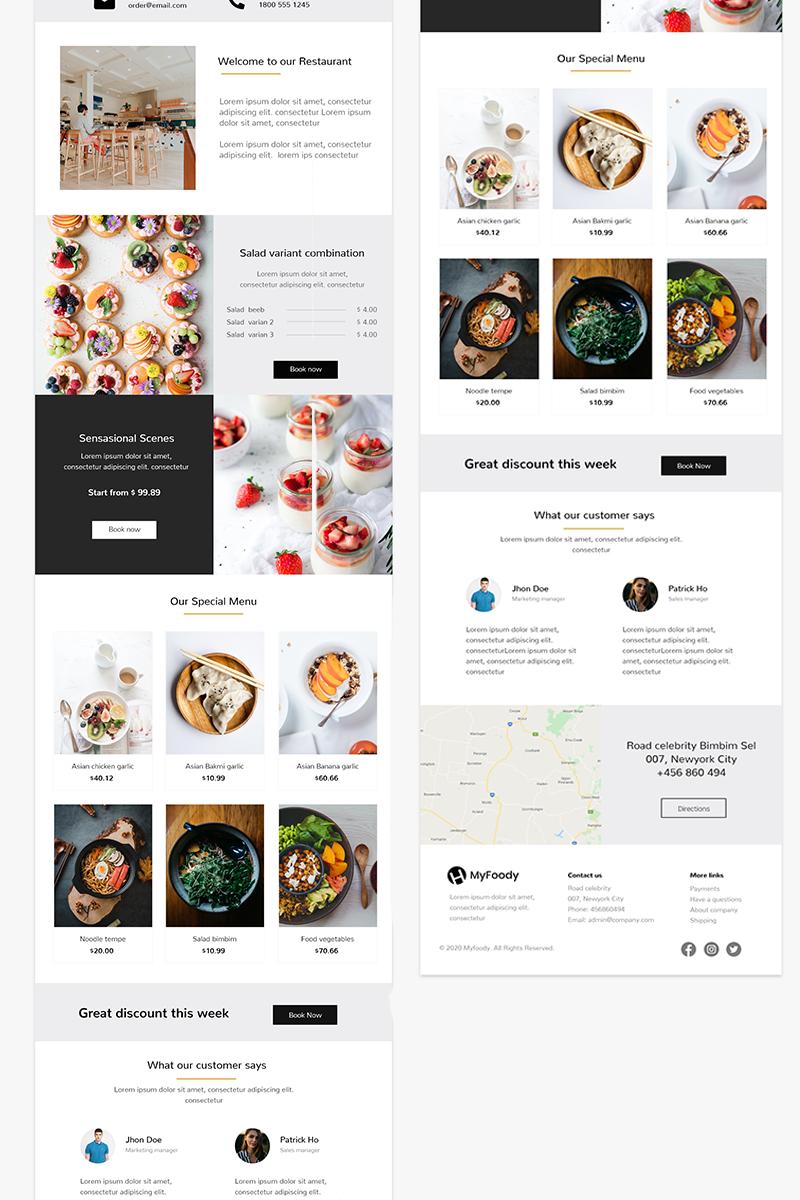 "Newsletter Vorlage namens ""MyFoody - Responsive Restaurant"" #98409"