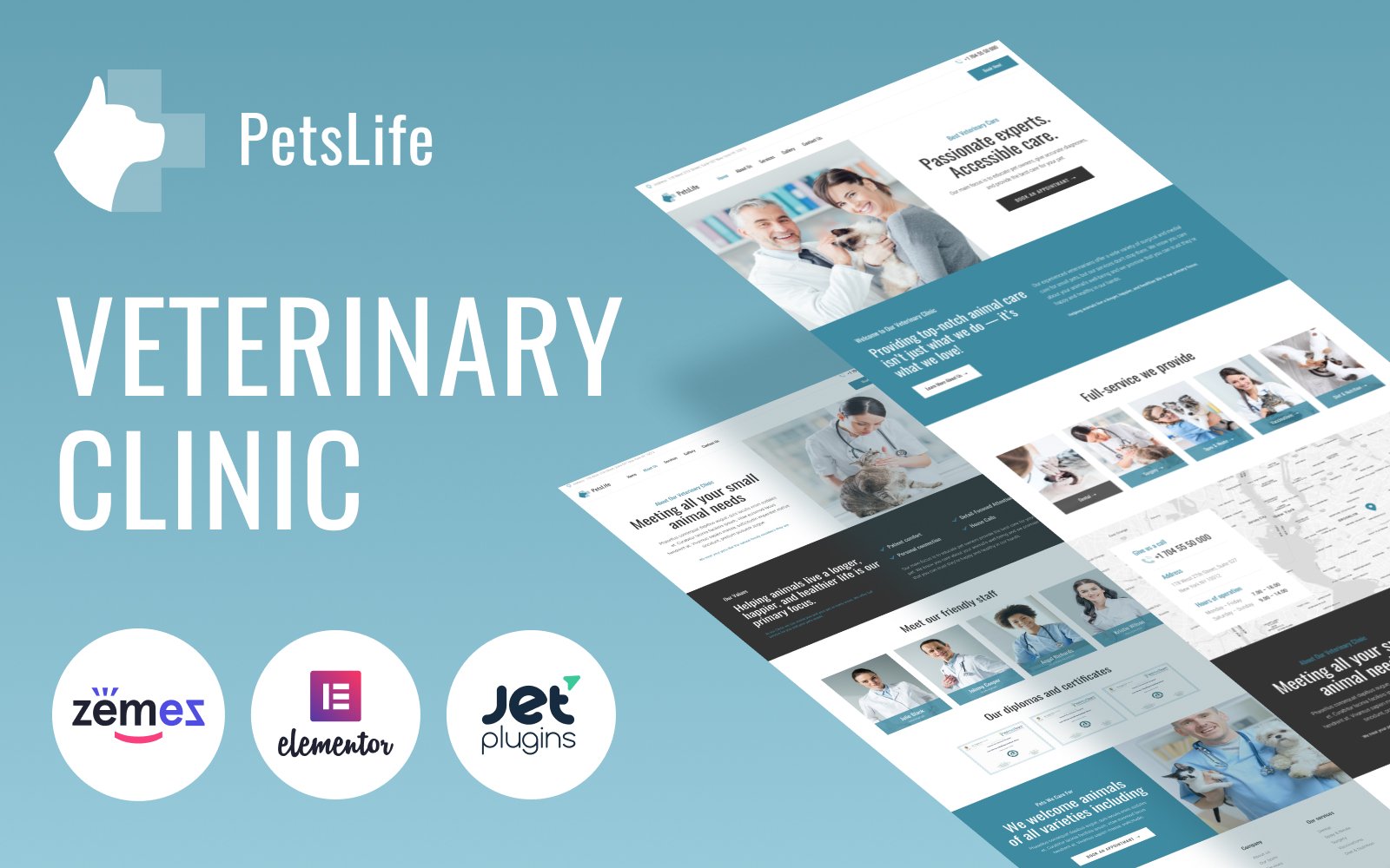 PetsLife - Responsive Veterinarian WordPress Theme
