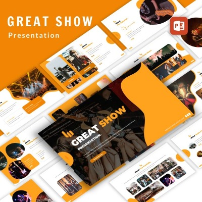 "PowerPoint шаблон ""Great Show Event Organizer Presentation PowerPoint"" #98458"