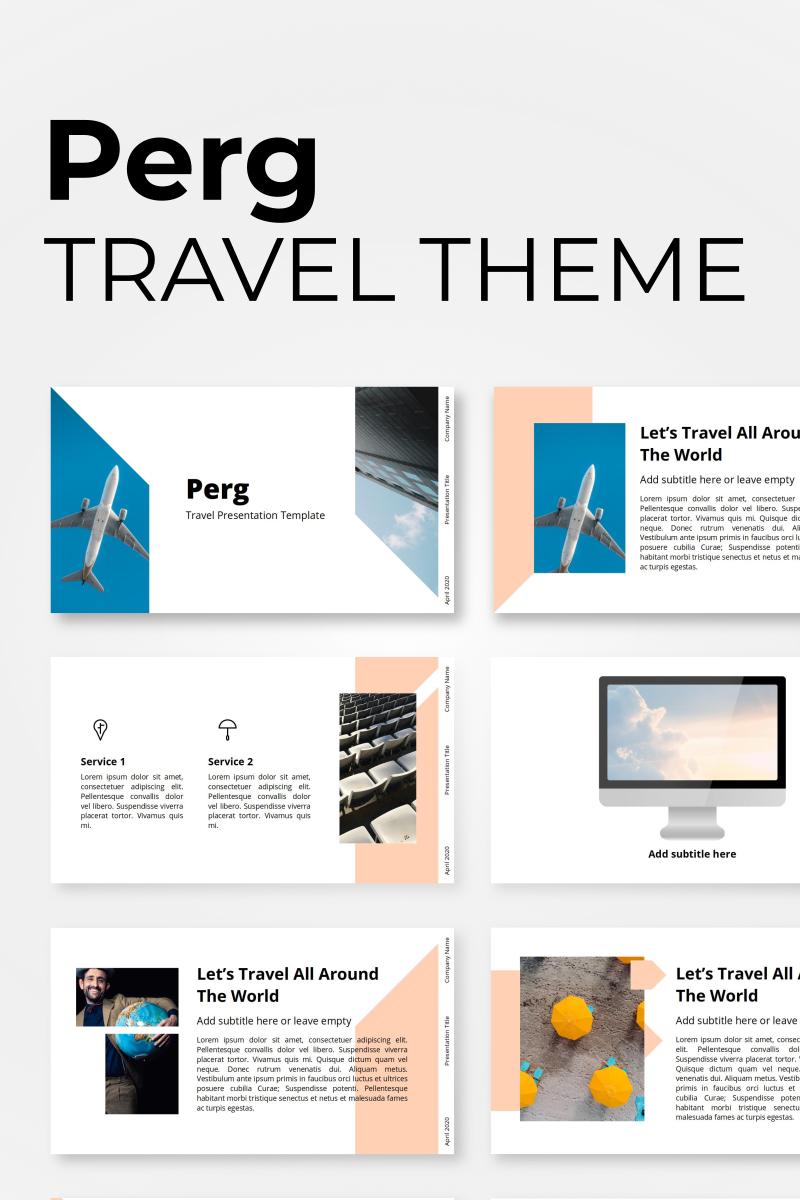 "PowerPoint šablona ""Perg - Travel Presentation"" #98453"