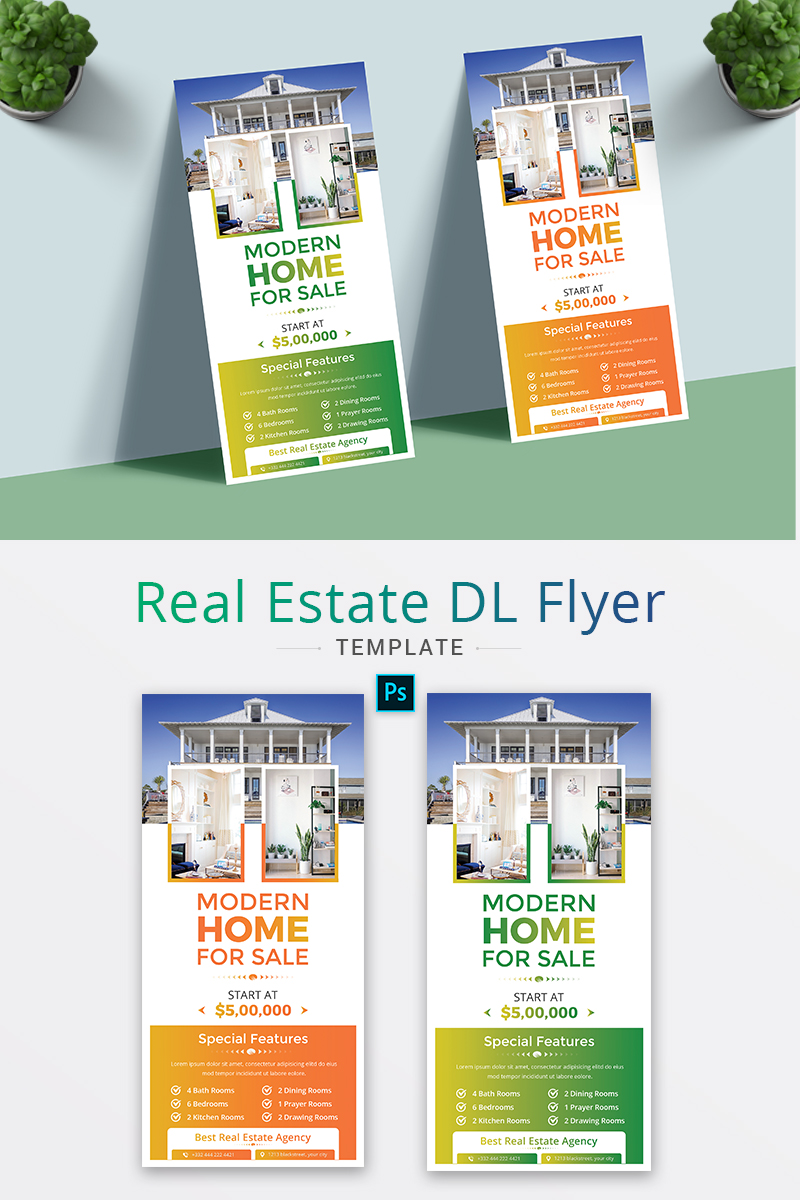 Real Estate DL Flyer Corporate Identity Template