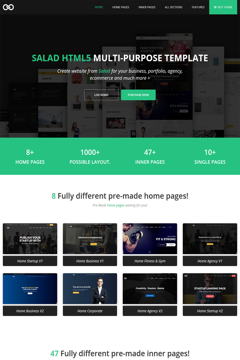 Salad – Multipurpose HTML Website Template