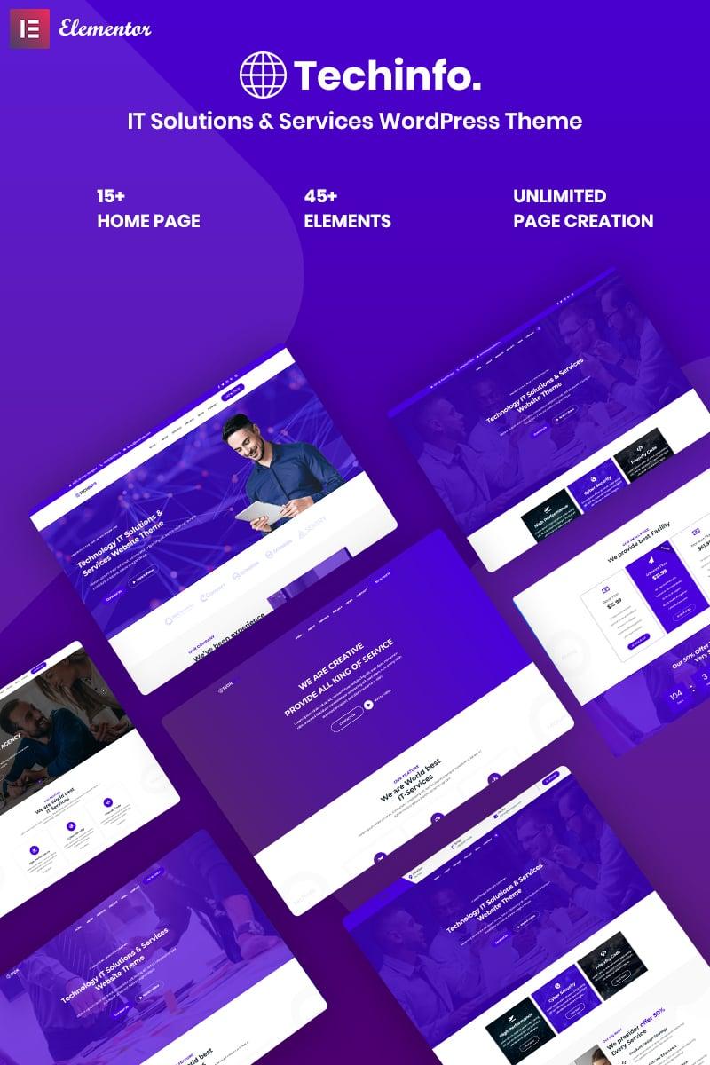 Techinfo - IT Solutions & Services WordPress Theme - screenshot
