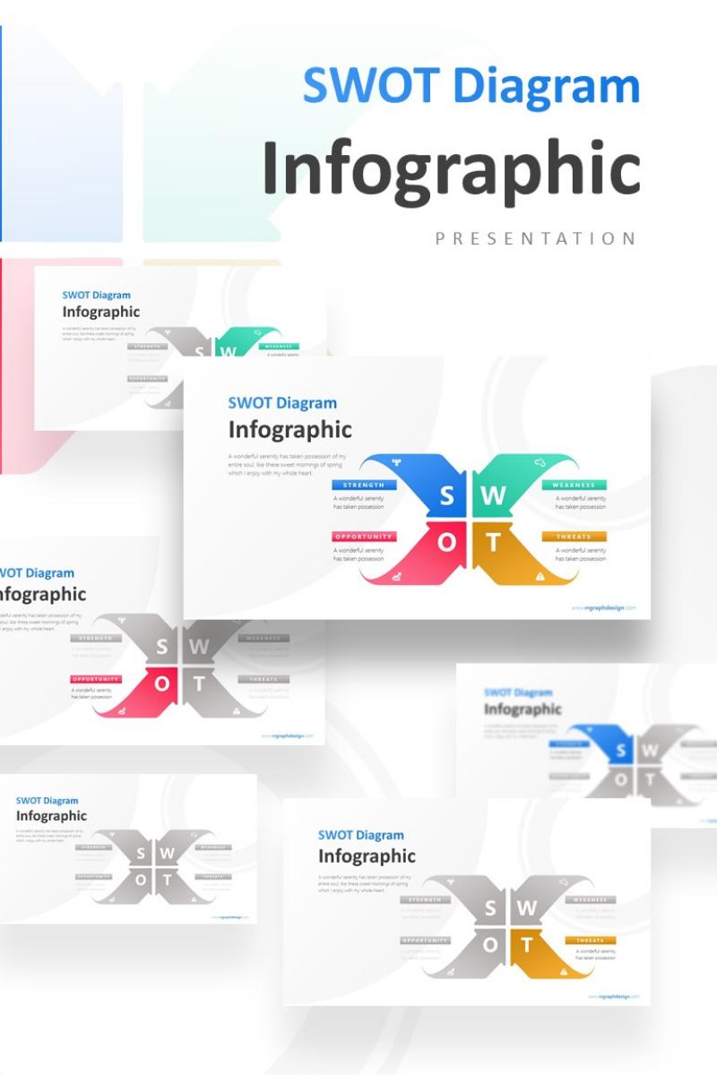 4 Creative Arrows SWOT Presentation PowerPoint Template