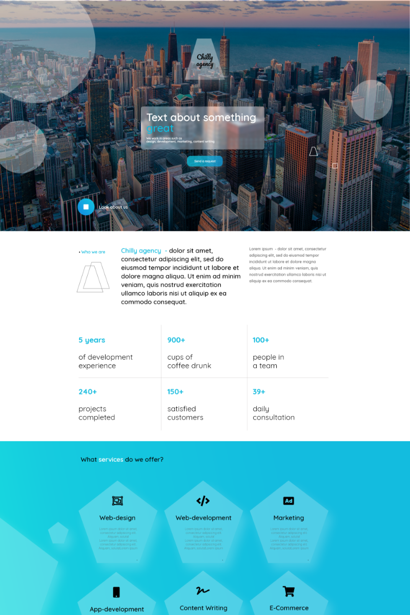 Chilly Agency Landing Page Template