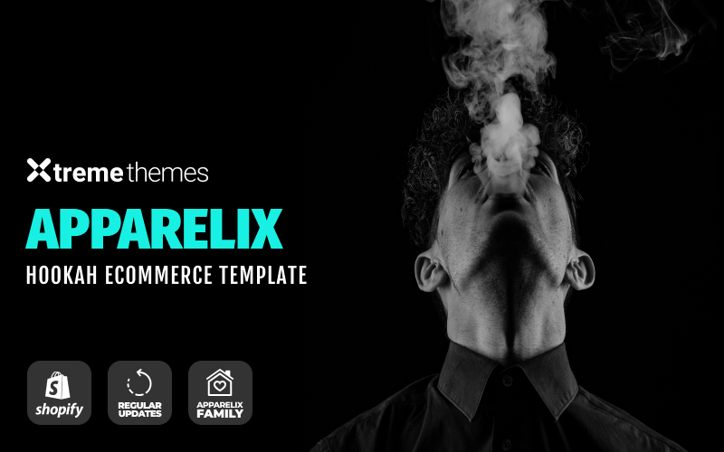 """Apparelix Hookah Online eCommerce Template"" thème Shopify adaptatif #98574"