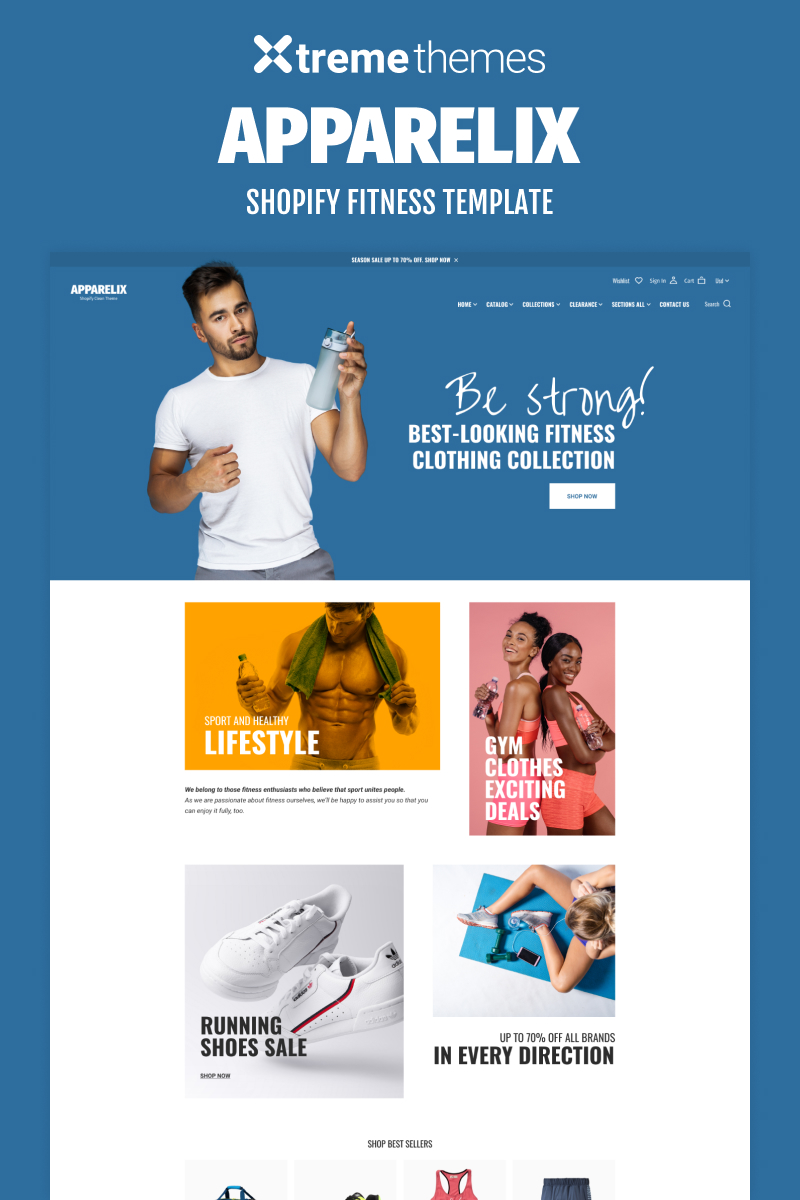 Apparelix Shopify Fitness eCommerce Template Shopify Theme