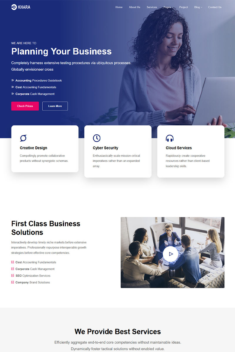 Bootstrap Khara - Vue Nuxt Corporate and Business App Template #98586