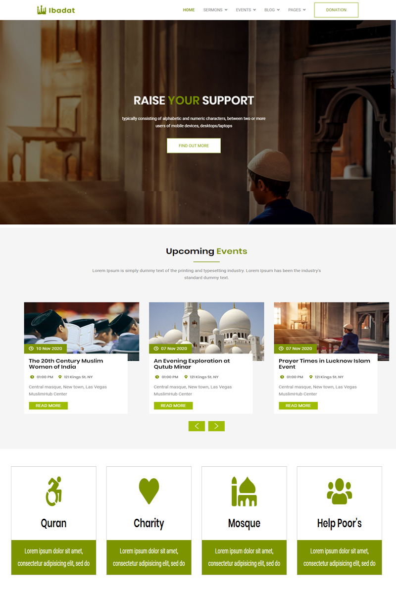 Ibadat - Donation, Nonprofit HTML5 Website Template